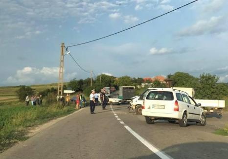 Accident la Tileagd: Patru persoane, între care un copil de 2 ani, au ajuns la spital