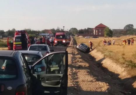 N-avem şosele, dar avem maşini: Coliziuni frontale pe drumurile de ţară ale Bihorului!
