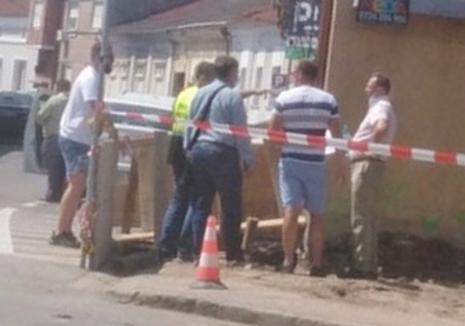 Accident teribil pe un şantier din centrul Oradiei: un muncitor a murit zdrobit între doi pereţi de beton (FOTO / VIDEO)