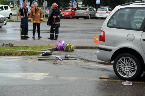 Accident grav pe Calea Clujului: Patru surori au ajuns la spital, după ce un şofer inconştient le-a izbit din plin, pe trotuar (FOTO/VIDEO)