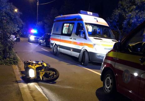 Pieton beat, izbit de un motociclist băut şi fără permis în Oradea (FOTO)