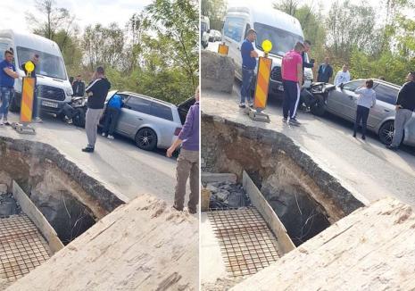Coliziune între un autoturism şi o dubă, pe DN76 în Bihor: O familie a ajuns la spital, inclusiv o fetiţă de 11 ani