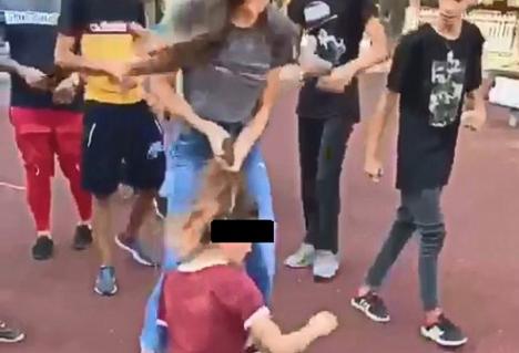 O adolescentă a fost bătută de o altă fată și târâtă de părprintr-un parc din București (VIDEO)