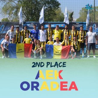 Mare performanţă pentru AEK Oradea: Este vicecampioană europeană la minifotbal! (FOTO / VIDEO)