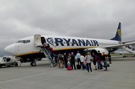 Încă o cursă retrasă mai repede: Ryanair nu mai zboară din Oradea nici spre Dusseldorf, din iunie!