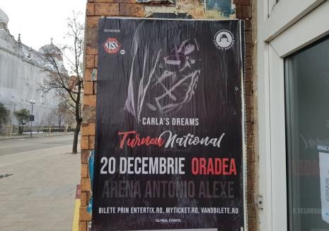 Ţeapă pentru fani: Concertul Carla's Dreams de la Arena Antonio Alexe din Oradea a fost anulat fără nicio explicaţie!