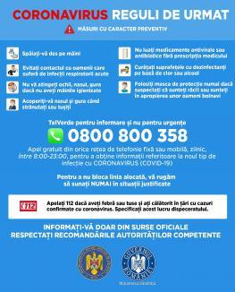 Nu vă informați de pe Facebook! Guvernul pune la dispoziție o linie TELVERDE pentru cetățenii care vor să afle despre coronavirus