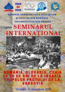 50 de ani de la Primăvara de la Praga, marcaţi printr-o conferinţă la Oradea