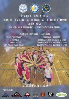 Oradea găzduieşte turneul semifinal al Diviziei A2 la volei feminin, Seria Vest