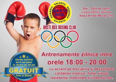 Clubul Basti Box Salonta și-a deschis filială și la Ștei. Antrenamentele sunt gratuite!