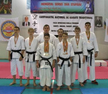 Orădenii de la UAMT Univ. Agora, nouă medalii la Campionatul Național de Fudokan