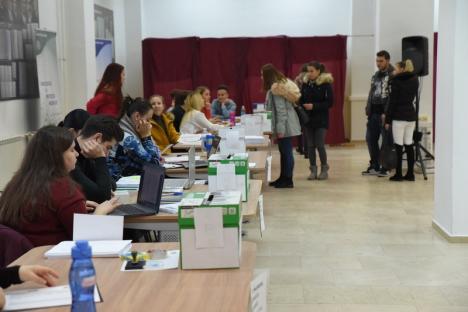 Dezinteres total! Prezenţă de nici 3% la alegerile pentru studenţii din Senatul Universităţii din Oradea (FOTO)