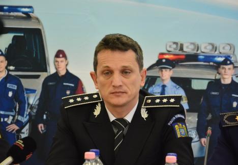 Şefie la mezat: Şeful Poliţiei Bihor, Alin Haniş, are contracandiat la concursul pe post