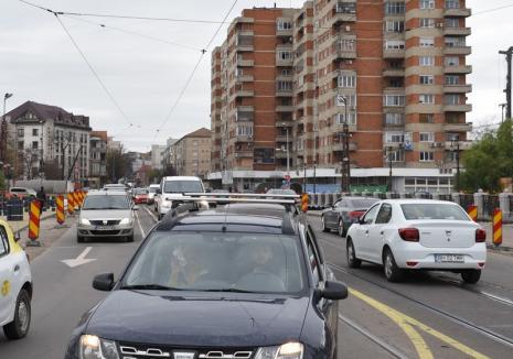 Se lasă rău! Începând din 9 decembrie, circulația pe podul Dacia se restricționează la o singură bandă pe sens