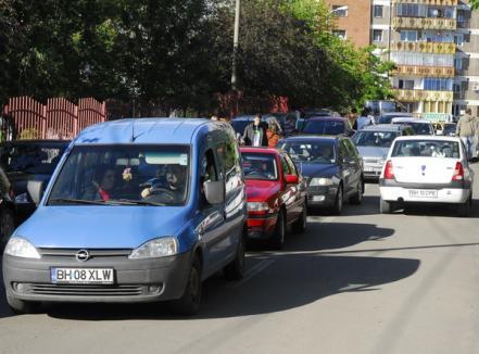 Blocade-n trafic, poliţiştii nicăieri