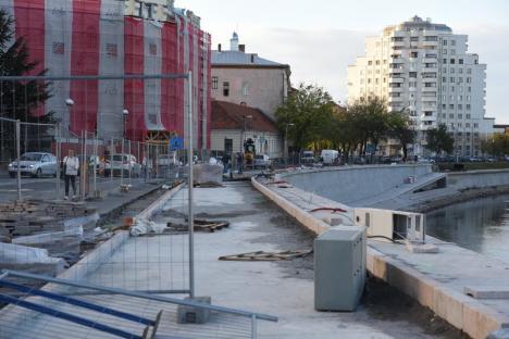 Promenada de lângă Primăria Oradea ar putea fi gata mai devreme. Nu va mai avea copacii înalţi cu care s-au fălit edilii (FOTO)