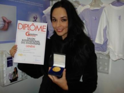Andreea Marin a câştigat medalia de aur pentru invenţia ei, la Geneva