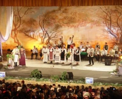 În timpul concertului de ziua oraşului, orchestra Ansamblului Crişana a plecat de pe scenă