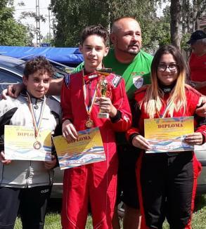Orădeanul Antonio Cohuț a impresionat la concursul internațional de karting de la Chișineu de Criș