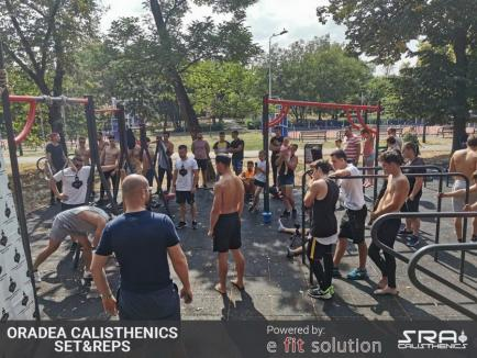 Sport în parcuri: Prima competiție de Calisthenics din Oradea (FOTO)