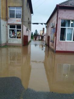 Ploile au făcut din nou ravagii în Bihor: străzi şi zeci de gospodării inundate (FOTO / VIDEO)