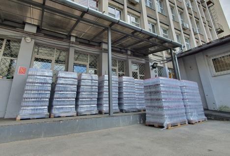 European Drinks și Izvorul Minunilor, donație importantă de apă către Spitalul Clinic Municipal din Oradea
