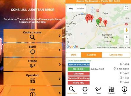 S-a lansat aplicaţia Bus Bihor: Călătorii pot monitoriza autobuzele din judeţ şi pot scrie recenzii despre transportatori
