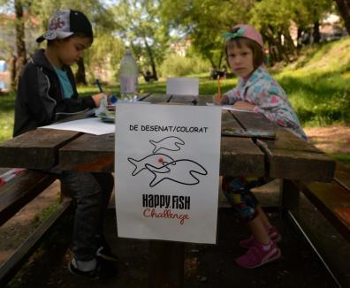 Lecţie în aer liber: Copiii au aflat, pe malul Crişului, ce înseamnă viaţa acvatică (FOTO/VIDEO)