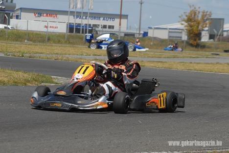 Orădeanul Armond Kozak s-a impus în Cupa Matra de karting din Ungaria