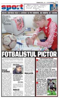Mihai Neşu, în paginile primului număr din BIHOREANUL: Avea 17 ani şi urma să aleagă între fotbal şi... desen (FOTO)