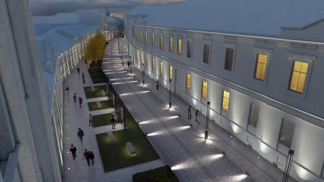 Vă place cum arată? Băncile puse de Primăria Oradea pe pietonala Aurel Lazăr sunt turnate din beton (FOTO)