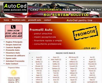 Firma Autoced SRL Oradea a încasat peste 40.000 euro pentru maşini fictive