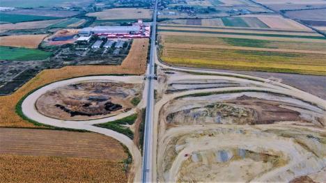 Selina îşi face treaba: Vezi cum arată șantierul mini-autostrăzii din Bihor (FOTO)