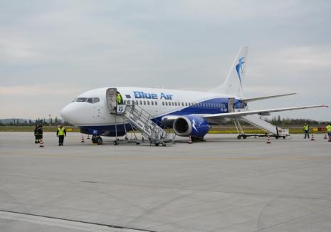 Parteneriat cu Primăria: Blue Air va dubla numărul curselor Oradea - Bucureşti