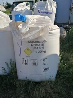 Pericol şi la Sântandrei: Peste 4 tone de azotat de amoniu, depozitate neconform într-o fermă