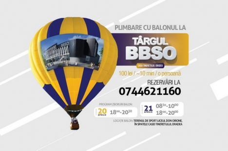 Orădenii sunt invitaţi să se dea cu un balon cu aer cald… pentru Biserica Speranţa