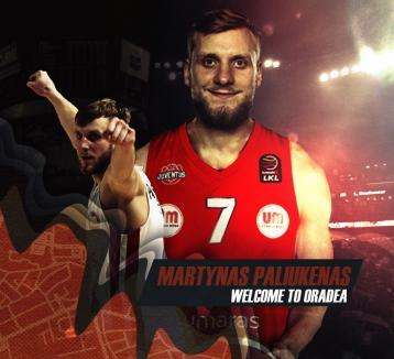 Baschet: CSM CSU Oradea şi-a mai adus un lituanian, pe Martynas Paliukenas!