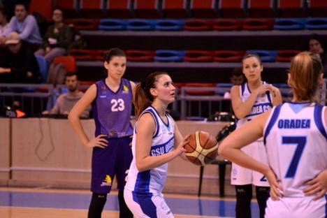 Baschetbalistele de la Universitatea CSM Oradea, pe primul loc în Grupa C din Liga I (FOTO)