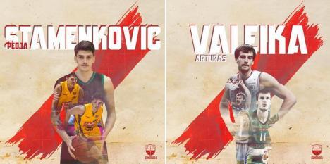 CSM CSU Oradea a mai transferat doi străini: sârbul Pedja Stamenkovic şi lituanianul Artūras Valeika