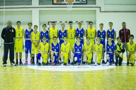 LPS CSM Oradea, vicecampioană naţională la baschet masculin U14