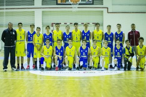 Patru victorii din cinci jocuri la faza de clasificare a CN de baschet U14 de la Braşov pentru jucătorii de la LPS Bihorul