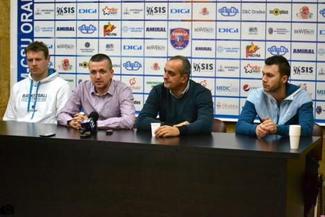 Conducerea echipei orădene de baschet CSM CSU şi-a prezentat noile achiziţii