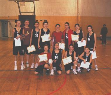 Micile baschetbaliste orădene s-au calificat în finala turneului U13