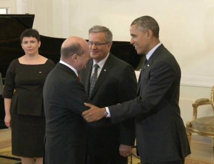 """Barack Obama către Traian Băsescu: """"Ce faci, prietene?"""""""