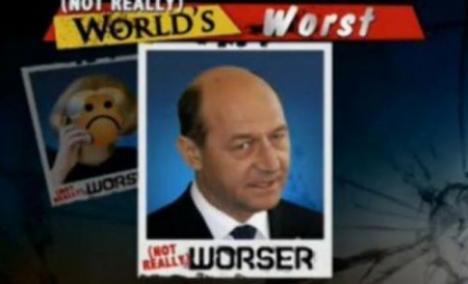 Băsescu, luat la mişto de americani: l-au catalogat drept cel mai nesuferit om din lume