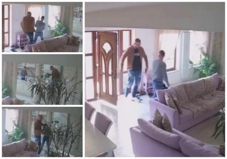 Înarmat cu un pistol, un interlop din Oradea a intrat peste un afacerist în casă şi l-a luat la bătaie. Bogdan Turcuţ, zis 'Palmă mare', e cercetat în libertate (FOTO / VIDEO)