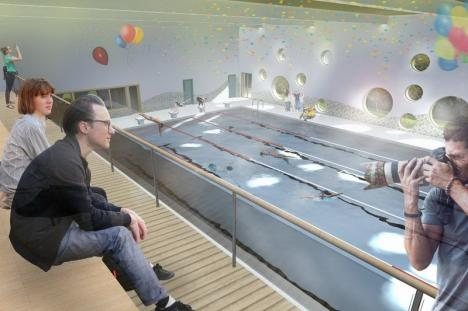 După licitaţii eşuate, Consiliul Judeţean a ales firme care să se ocupe doar de proiectarea bazinelor de înot din Nucet şi Săcueni