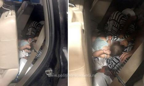 Frontiera Borş: O femeie şi-a ascuns fetiţa de 10 luni sub fustă, pe bancheta unui Audi Q7, pentru a o scoate din ţară