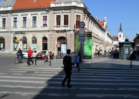 Doar pietonal! Primăria Oradea a interzis accesul bicicliştilor pe Corso