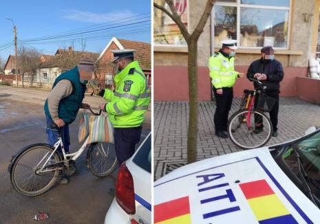 Acţiune de amploare a Poliţiei Rutiere în Marghita şi împrejurimi: peste 200 de biciclişti, căruţaşi şi pietoni s-au ales cu amenzi